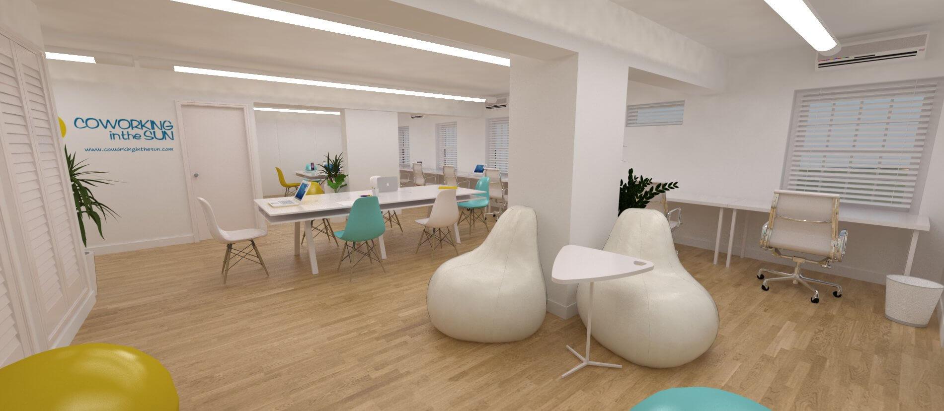 Coworking space adeje 3 cuadrados estudio - Diseno tenerife ...