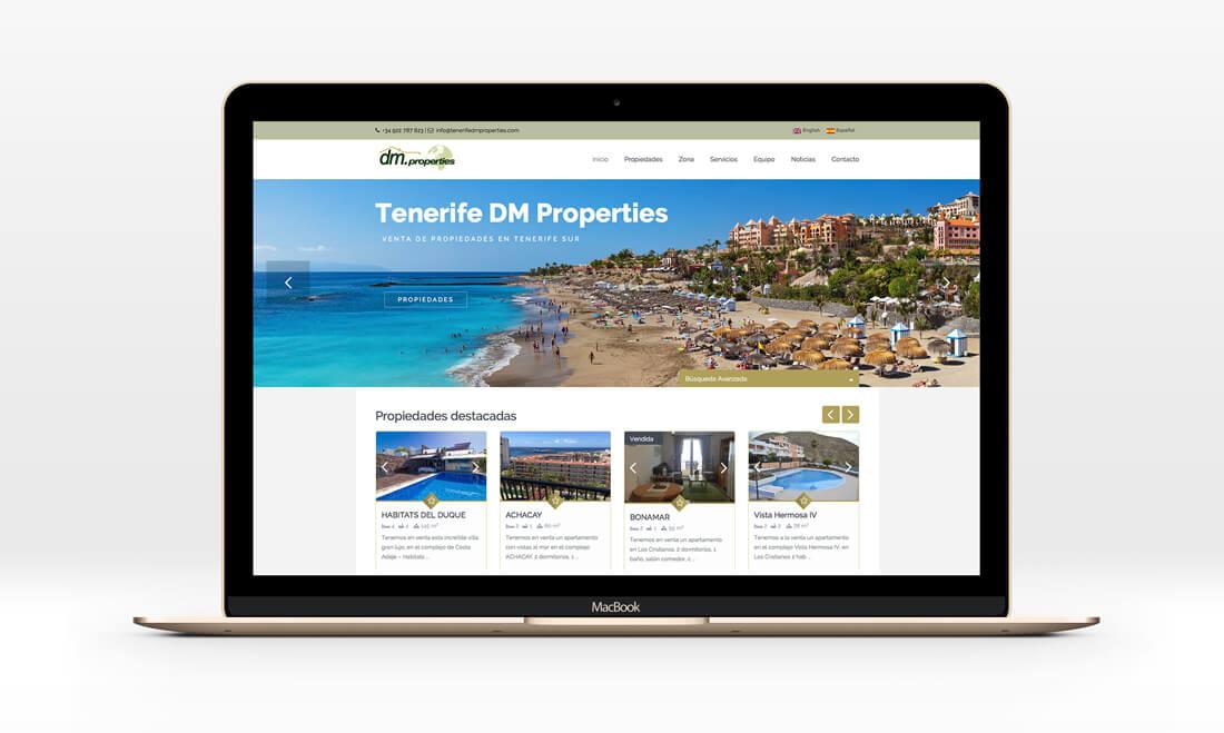 Dise o web para inmobiliaria en tenerife tenerife dm - Diseno tenerife ...